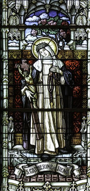 Saint Catherine of Siena //   Stained glass from the church of St Rose in Springfield, KY. // #Dominicanes #DominicanOrder