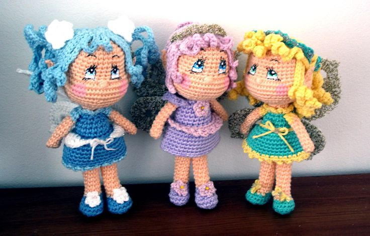 As I said in the title, new fairies were born at my house this week :D I have really enjoyed every second of this week so far! Making Fairies is more than making crocheted dolls it is making fantas...