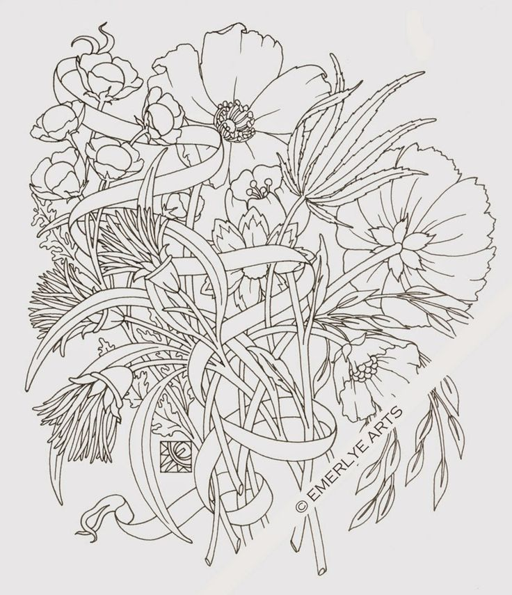 woven stems a hemp cannabis coloring page for a new book by - Cannabis Coloring Book