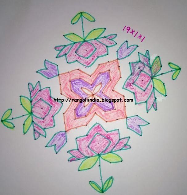 rangoli designs with dots for diwali rangoli rangilee