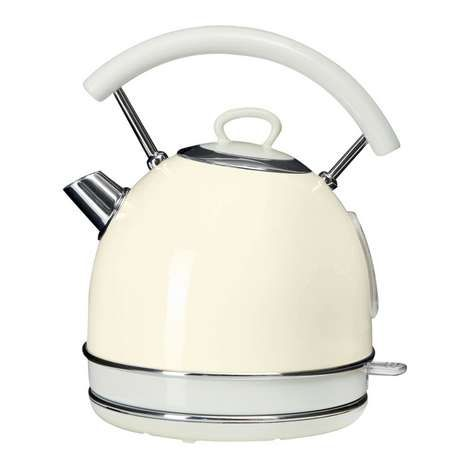 Finished in cream, this 1.7 litre kettle from Candy Rose includes a removable water filter and comes with a one-year guarantee....