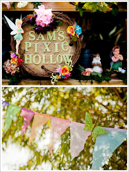 Pixie Hollow Birthday Party: spread our wings and fly… straight into Pixie Hollow.