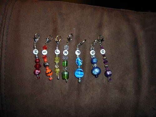 Crochet hook stitch markers/hook reminders (set 2)