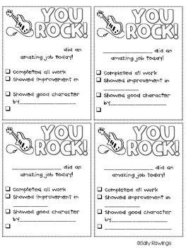 YOU ROCK!  Parent Communication for Students' Achievements