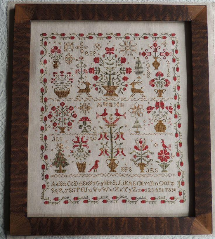 92 best cross stitch images on pinterest embroidery for Christmas garden blackbird designs