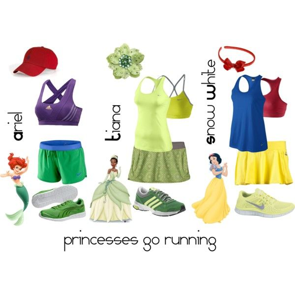 Princess running outfits, perfect for the walt disney half marathon/ marathon I'm doing!