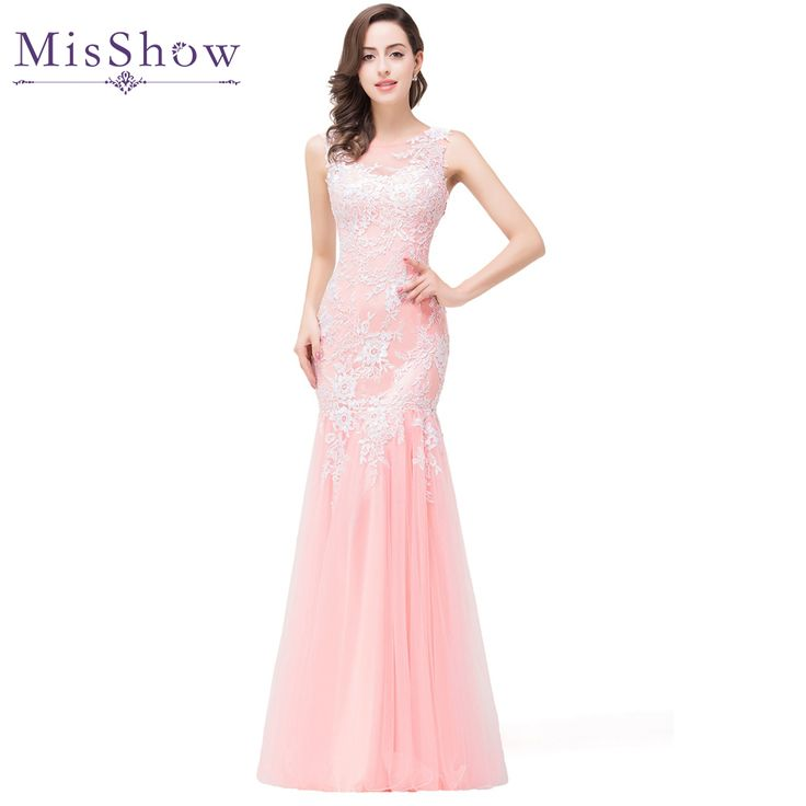 Cheap prom gown, Buy Quality tulle evening dress directly from China robe de soiree Suppliers: In stock 2017 Real Photos Mermaid Long Pink Tulle Evening Dresses Elegant Robe De Soiree Longue See Through Back Party Prom Gown