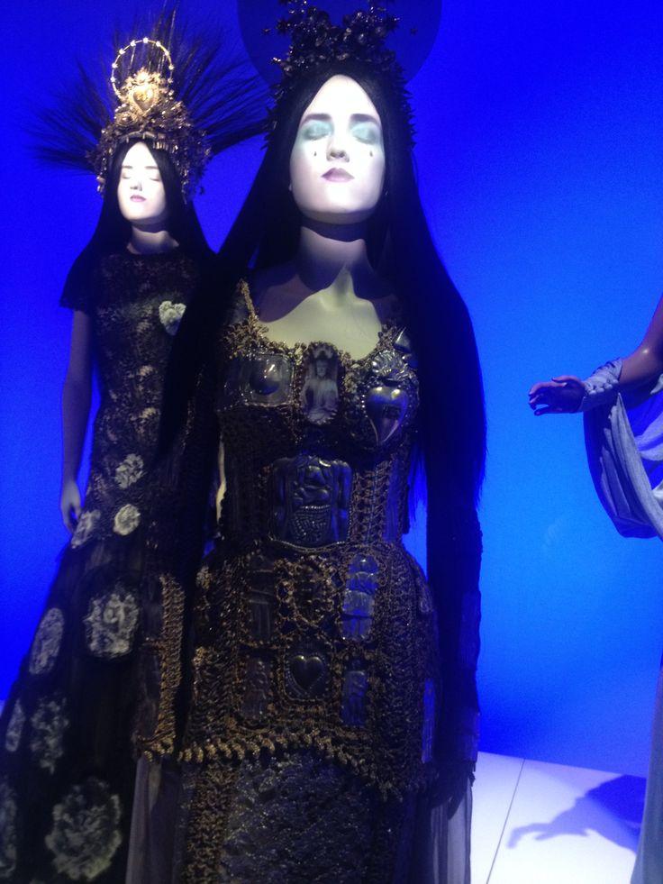 Jean Paul Gaultier Saintly Mixed Media Crochet Dress
