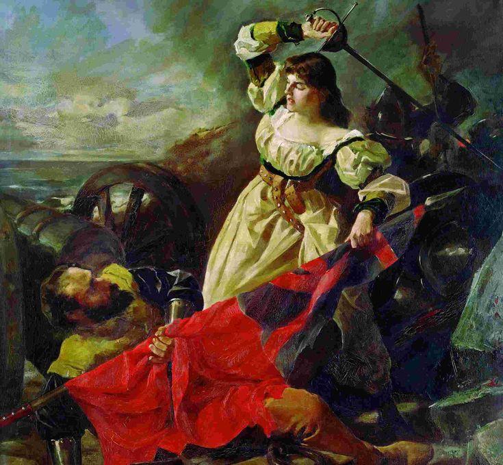 María Pita, la coruñesa que se enfrentó al pirata Drake http://revistadehistoria.es/maria-pita-la-corunesa-que-se-enfrento-al-pirata-drake/