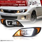 """BUILT-IN LED Low Beam"" For 2008-2014 Subaru WRX NEON DRL Black Headlights Lamps"