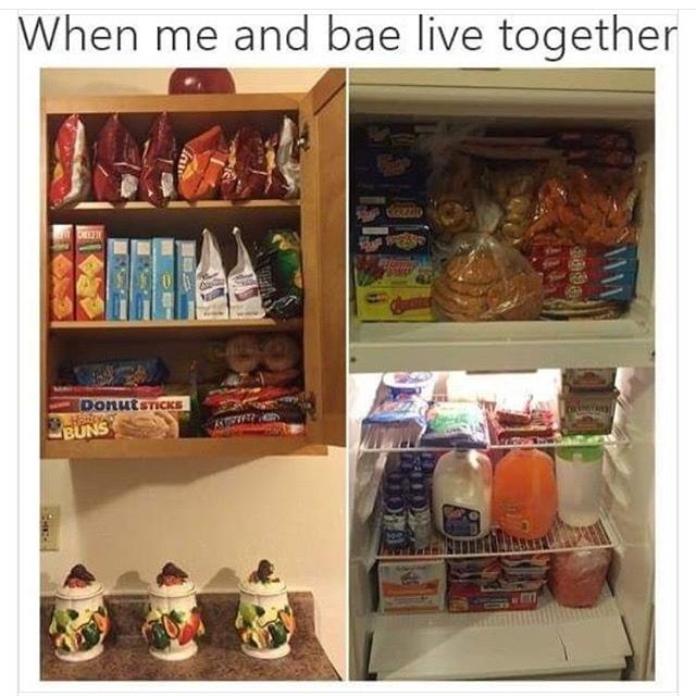 Not even its me and bae when I get my own place it's gonna be lit