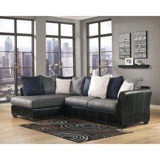 Signature Design By Ashley Masoli Cobblestone Sofa And Corner Chaise Sectional By Signature Design By Ashley Sectional Furnitureliving Room