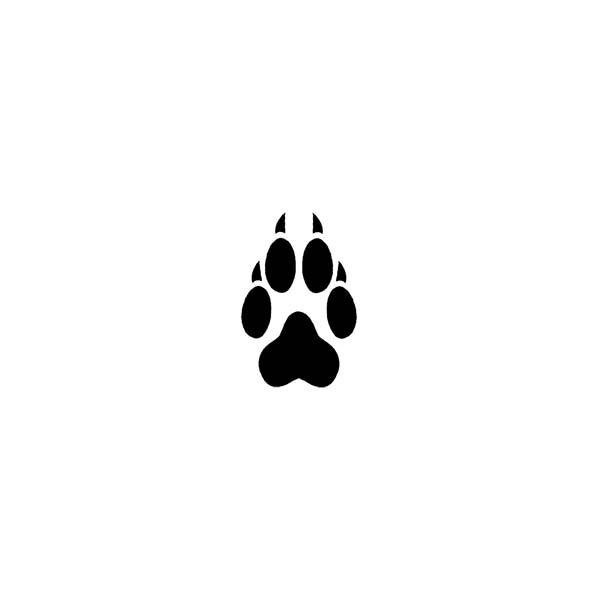 Wolf Paw Print Temporary Tattoo Tornado tattoo by Tattoos by Custom Tags found on Polyvore
