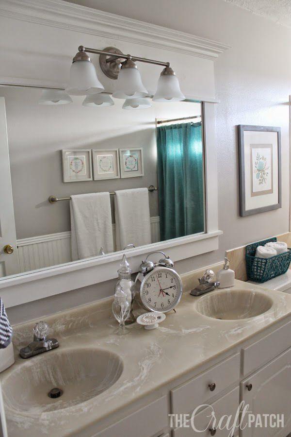 Remodel Bathroom Mirror Frame best 25+ budget bathroom remodel ideas on pinterest | budget