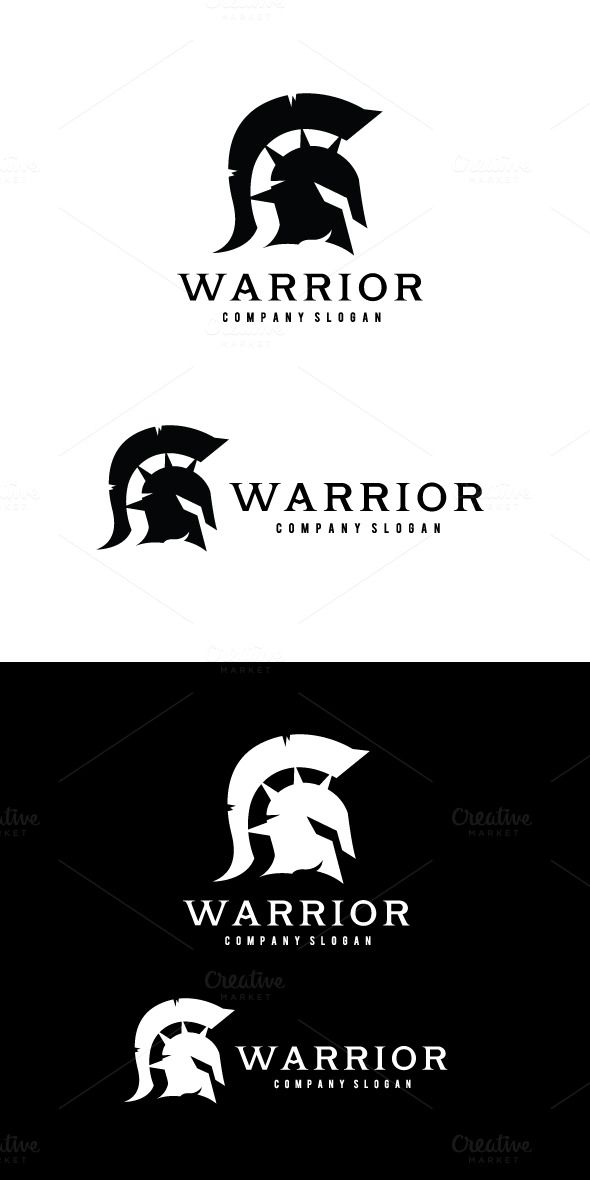 Warrior logo by Super Pig Shop on Creative Market