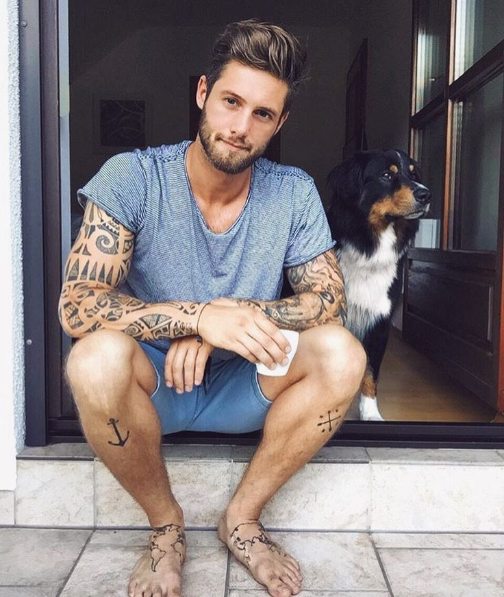 Pin by Shelby Goss on so sweet's Man and dog, Male feet