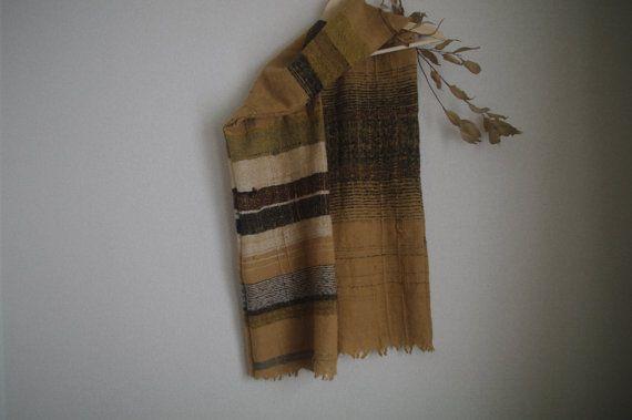 terra firma : handwoven scarf / mohair wool by gakumoandoseera