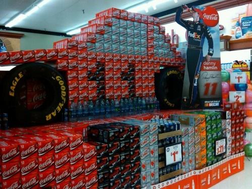 Cool Coca Cola Display Nascar Racing Pinterest Display