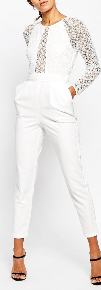 lace sleeve jumpsuit