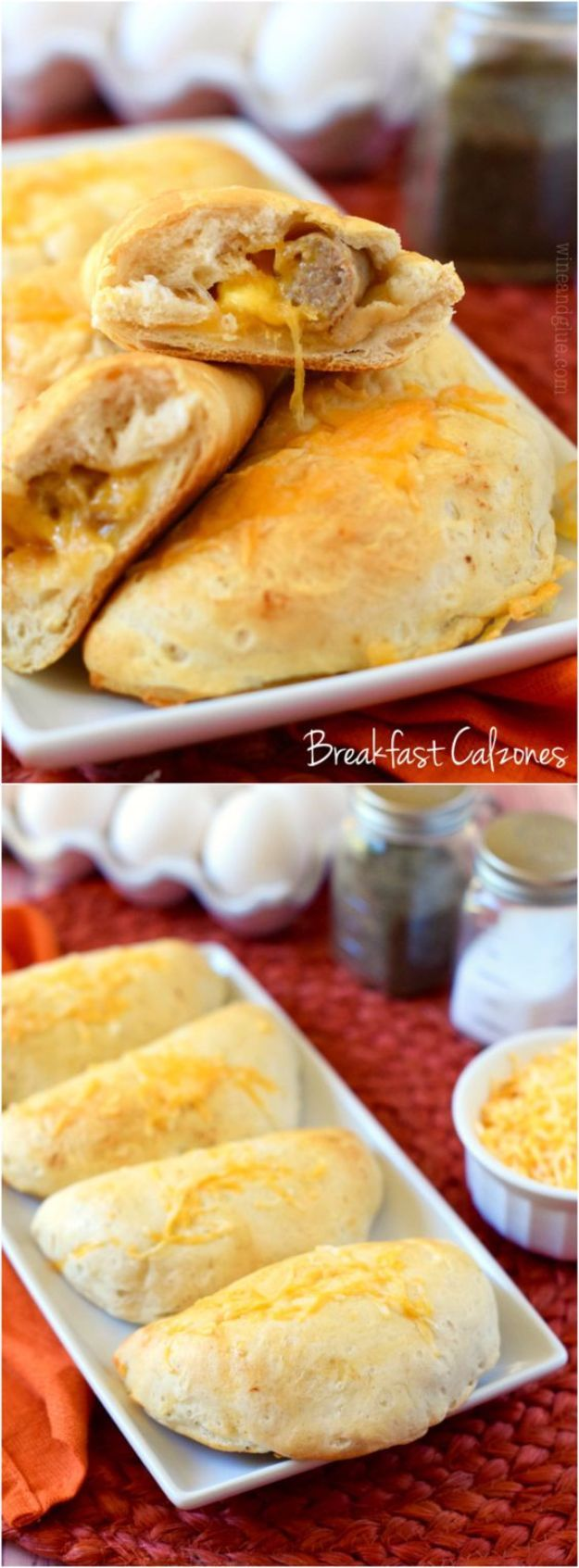 Best Canned Biscuit Recipes - Breakfast Calzones - Cool DIY Recipe Ideas You Can Make With A Can of Biscuits - Easy Breakfast, Lunch, Dinner and Desserts You Can Make From Pillsbury Pull Apart Biscuits - Garlic, Sour Cream, Ground Beef, Sweet and Savory, Ideas with Cheese - Delicious Meals on A Budget With Step by Step Tutorials http://diyjoy.com/best-recipes-canned-biscuits