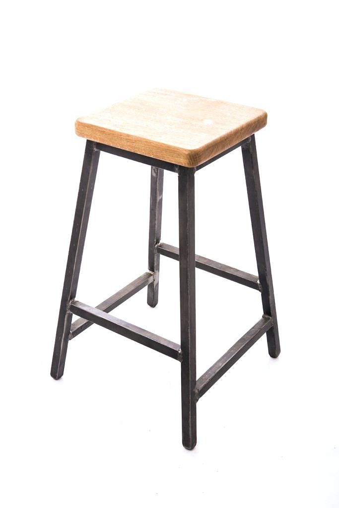 Low Bar Stools Stool Industrial Style Made With Steel Square Tube