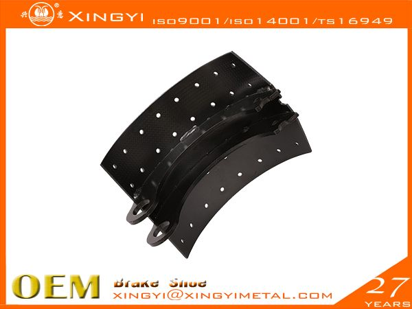 brake pads 788R Brake Shoe,We are manufacture of brake shoes, we  covers Japanese, European, Korean,US trucks. •web welding wethod:5、7Segments,Full bead•High precision technics:Radius precision Effective throat>3.74•Heat treament:HRS:35-45 hardness•Surface treatment:0.08-0.15mmthick•180 to 360 hours salt spray test,fatigue test, tensile test, metallographic analysis, element test, chromatic aberration test•Reline able 5-6times reuse guranteed•Original place: CHINA .xingyi@xingyimetal.com