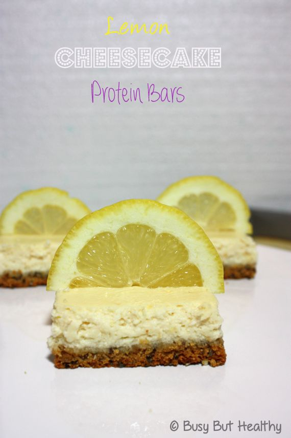 Lemon Cheesecake Protein Bars | Recipe | Lemon Cheesecake, Protein ...