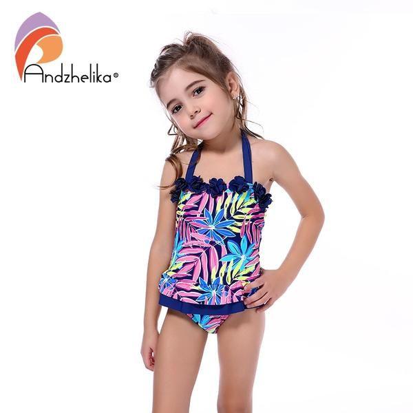 Bestprice Fashion Andzhelika New One Piece Swimsuit Dress Children Girls Flower Akzs44 Discounts Bestpric Swimwear Girls Kids Swimwear Girls Swimsuit Dress