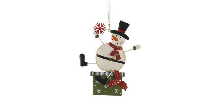 Box-Home • Κρεμαστό Metal Snowman