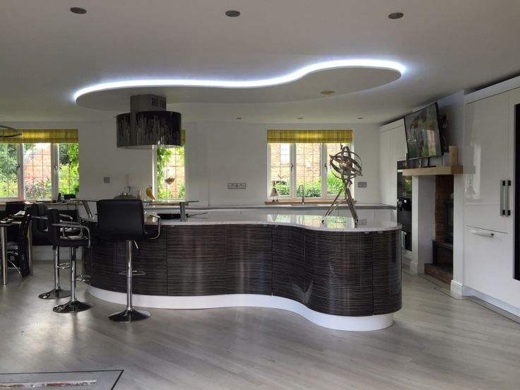25 best ideas about curved kitchen island on pinterest for Kitchen ideas zebrano