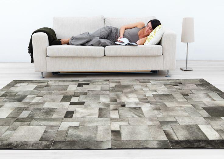 cowhide rug puzzle design color elephant