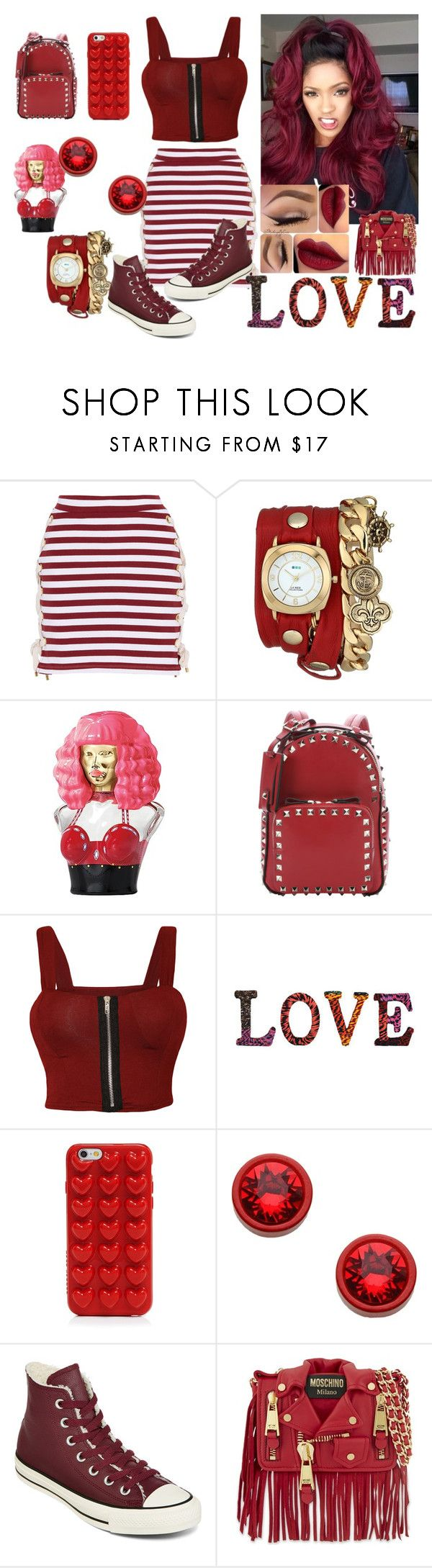 """""""Red & Sexy"""" by princess-imani-tyler on Polyvore featuring House of Holland, La Mer, Nicki Minaj, Valentino, WearAll, Dot & Bo, Marc Jacobs, Givenchy, Converse and Moschino"""