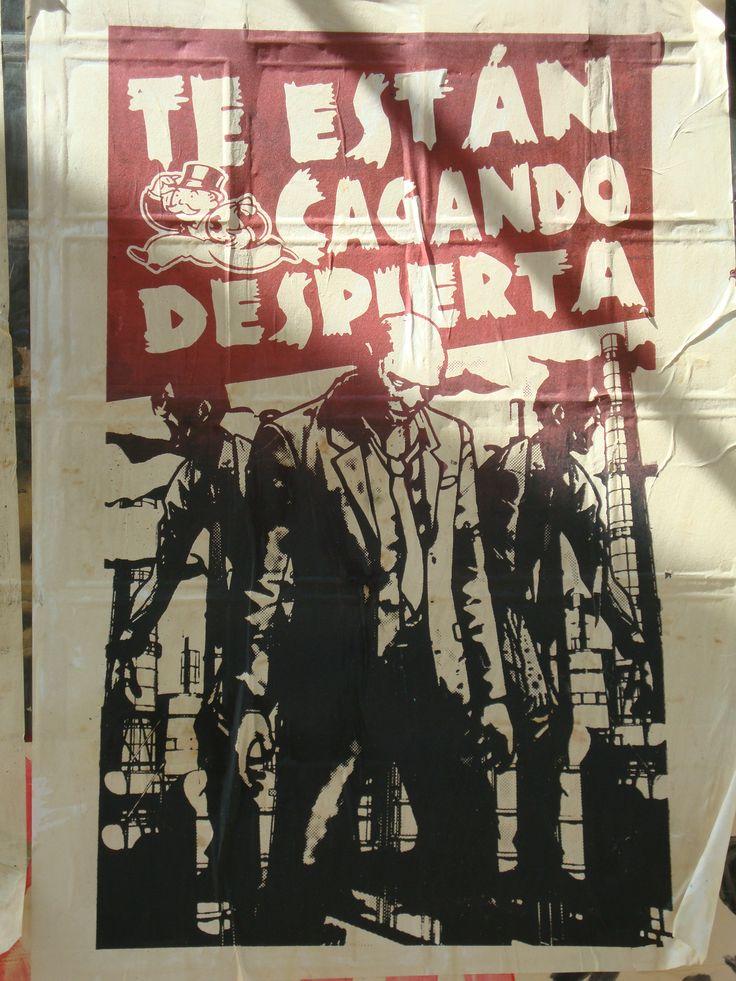 Te están cagando. Santiago de Chile, Romería al Cementerio General, 8 de sept. de 2013. A 40 años del golpe.