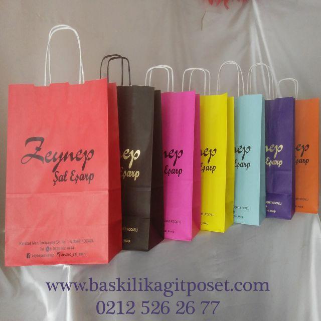 renkli mağaza çantası