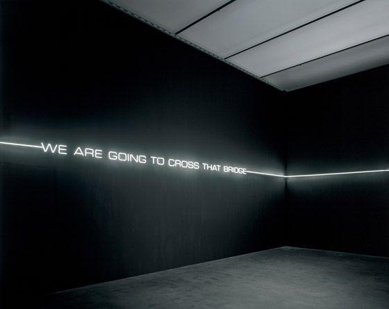Lori Hersberger, ' We are going to cross that bridge', rauminstallation (2005), Galerie Bob van Orsouw _