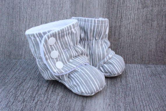 pantoufle enfant nouveau-né, grises, écouce d'arbre, bébé ,  pantoufle, souliers, chaussons, blanc, nouveau-né, cadeau, naissance