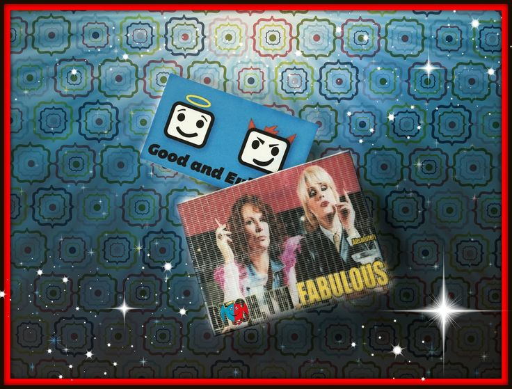 Absolutely Fabulous, Duct Tape Wallet, Ab Fab, Patsy and Eddie, Good and Evil Creations by GoodandEvilCreations on Etsy