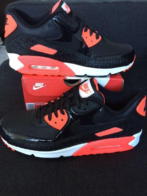 nike air max 90 black croc infrared nz