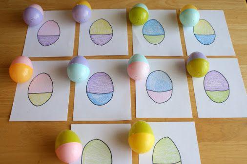 ИГРА ДЛЯ ДЕТЕЙ 2 ЛЕТ - развиваем логику и внимание. 1. Найди яйцо такое же как…