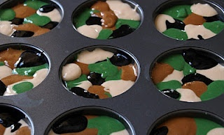 Camo Cupcakes [Boys Birthday Parties, Cupcakes Sandwiches, Camouflage Cupcakes, Camo Cupcakes, Parties Ideas, Sweets Tooth, Little Boys, Cupcakes Rosa-Choqu, Food Drinks