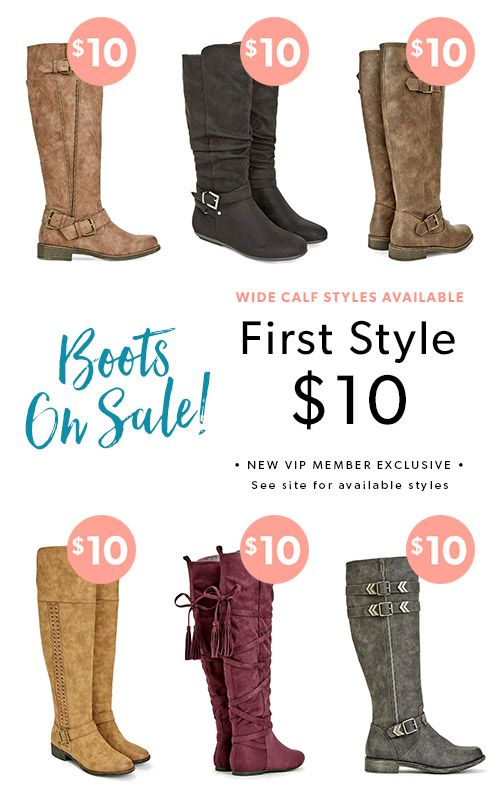 Welcome to boot season! With so many boots to choose from – we want to help you narrow it down. Fill out a fun style quiz so we can get an idea of the looks you love. Each month, we'll curate a personal boutique for you to shop from. Only buy your favorite picks and Get Your First Style For $10 when you become a JustFab VIP.