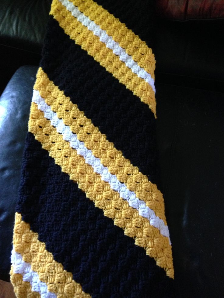 This is a c2c steelers blanket .