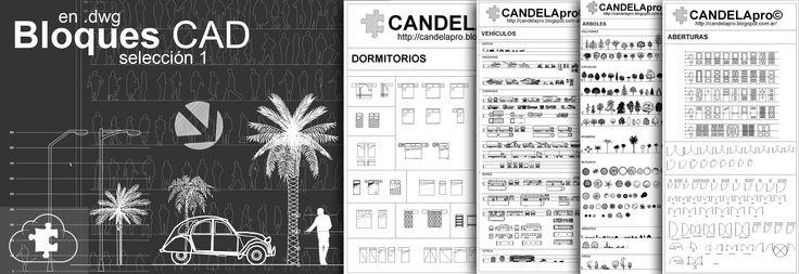 CANDELApro©: Bloques CAD | selección 1 | dwg |