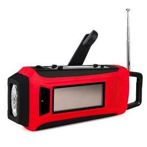 Portable Emergency Solar/Dynamo/DC & AM/FM/NOAA Digital Radio & LED Flashlight & 1000mAh Power Bank Phone Charger