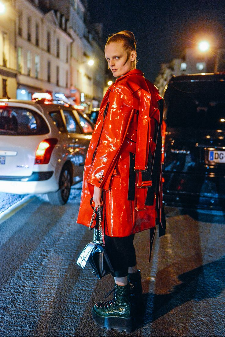 Hanne Gaby Odiele - Tommy Ton Shoots the Best Street Style at the Fall '15 Shows - Gallery - Style.com