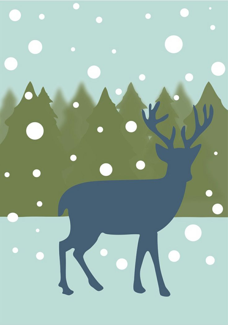 Share it & Receive it with our compliments! Winter Wonderland Deer art print :: http://www.chickduckgoose.com/products/winter-wonderland || *Until February 8, 2014