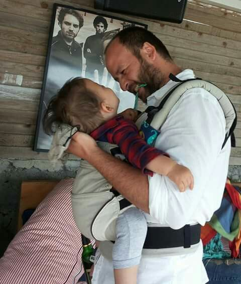 Dad&son... babywearing is the best experience