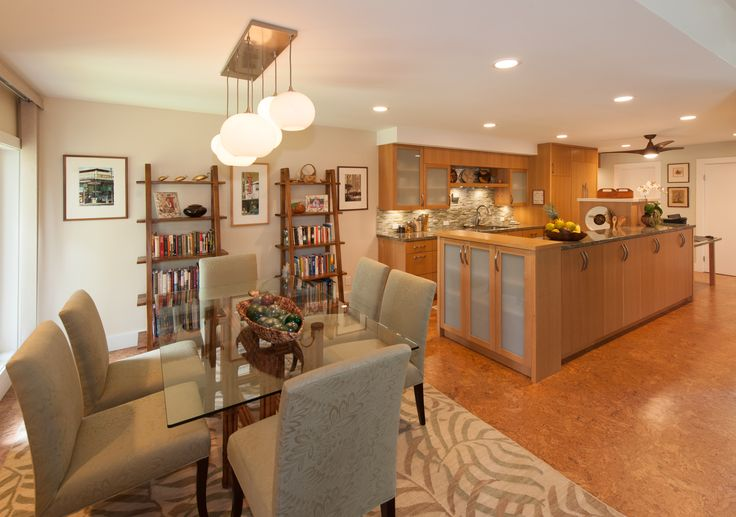 Dining Room and Kitchen. Designed by Archipelago Hawaii; Built By Mokulua High Performance Builders