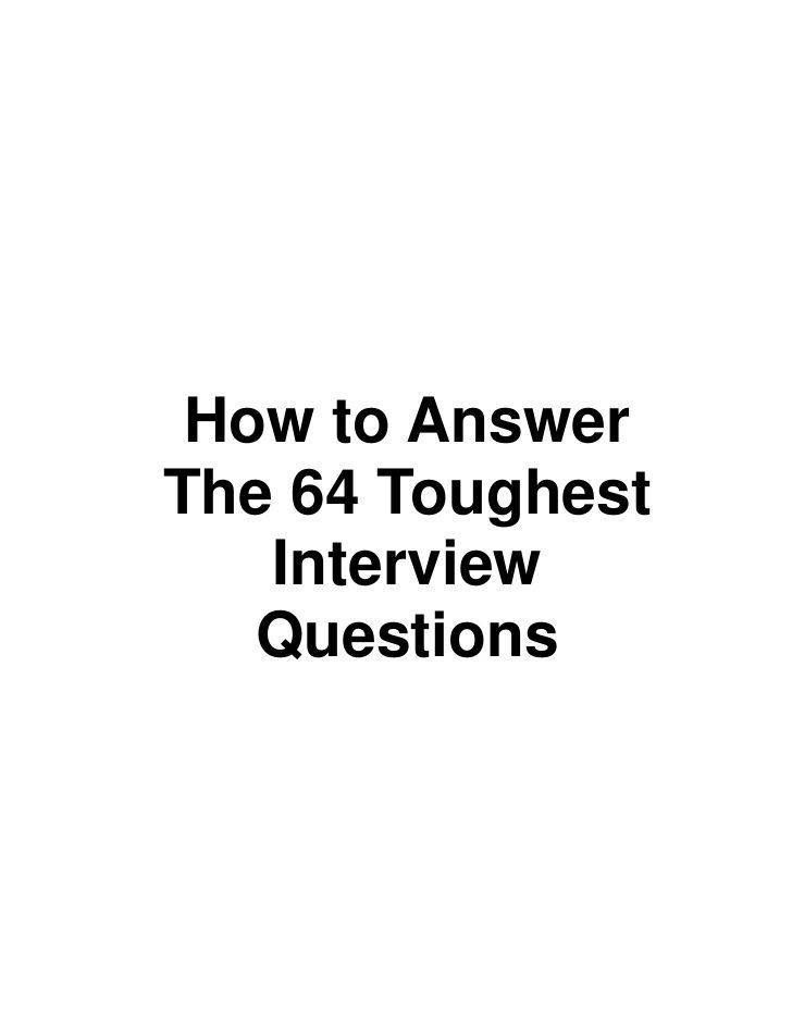 64 Interview Questions by blackwhites via slideshare - best pin ever!!! Read this before ANY job interview