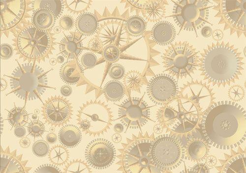 Steampunk Gear Fabric Print Design by Amber Middaugh